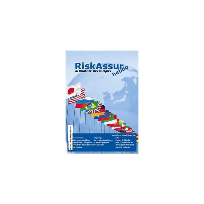 Sommaire du numéro 394 de RiskAssur-hebdo du Vendredi 13 mars 2015