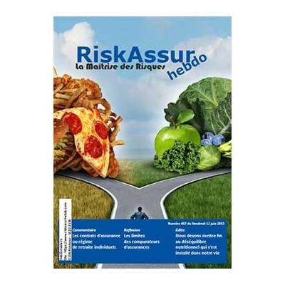 Sommaire du numéro 407 de RiskAssur-hebdo du Vendredi 12 juin 2015