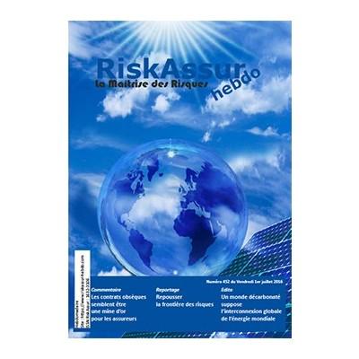 Numéro 452 de RiskAssur-hebdo du Vendredi 1er juillet 2016