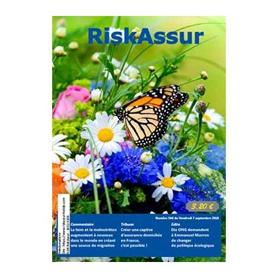 Numéro 544 de RiskAssur-hebdo du Vendredi 7 septembre 2018