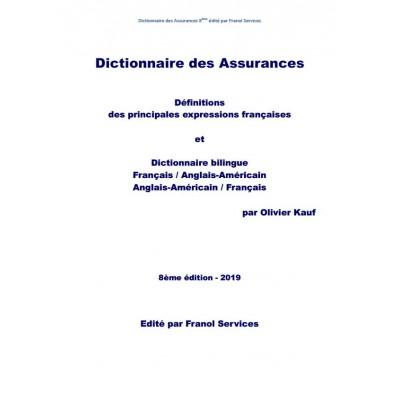 Dictionnaire des assurance (8ème édition 2019)