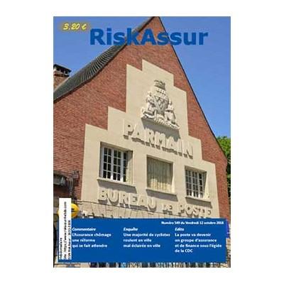 Numéro 549 de RiskAssur-hebdo du Vendredi 12 octobre 2018