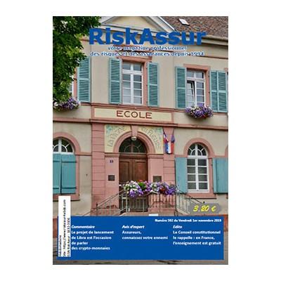 Numéro 592 de RiskAssur-hebdo du Vendredi 1er novembre 2019