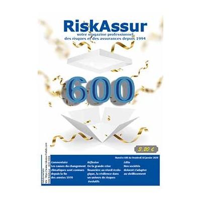 Numéro 600 de RiskAssur-hebdo du Vendredi 10 janvier 2020