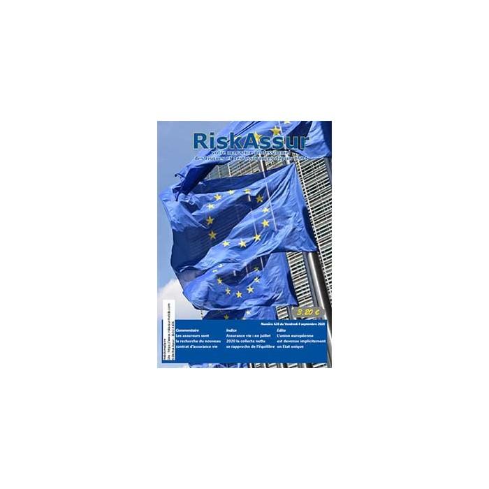 Numéro 628 de RiskAssur-hebdo du Vendredi 4 septembre 2020